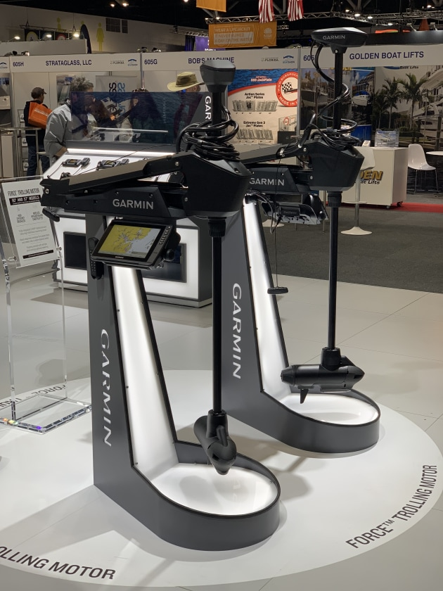 Competition heating up between these Garmin and Lowrance with the release of their new trolling motors. The electrics were a popular product at the show.