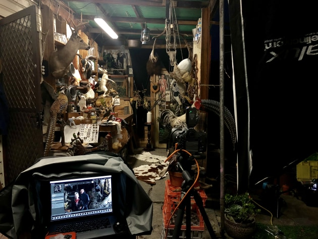 Behind the scenes of The Taxidermist.