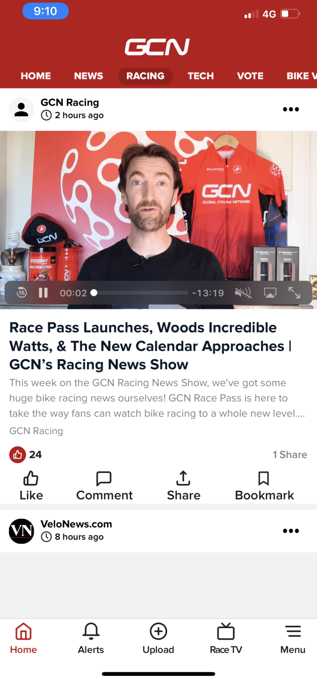 GCN are offering their Race Pass at a discounted launch price of $59.99 per year. You can download the app and subscribe via Android or iOS.