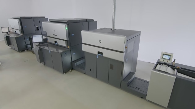 The HP Indigo 8000 digital press.