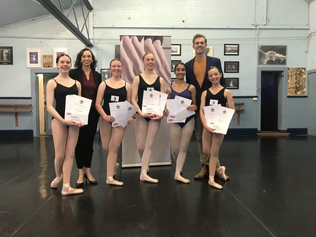 Intermediate class (from left) Sarah Gilmour, Rebecca Taylor, Amelia Millington, Soey Casson-Medhurst, Liliana Langham and Jana Nicol.