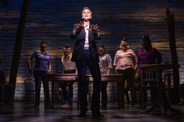 Jenn Colella and the cast of 'Come From Away'. Photo: Matthew Murphy.