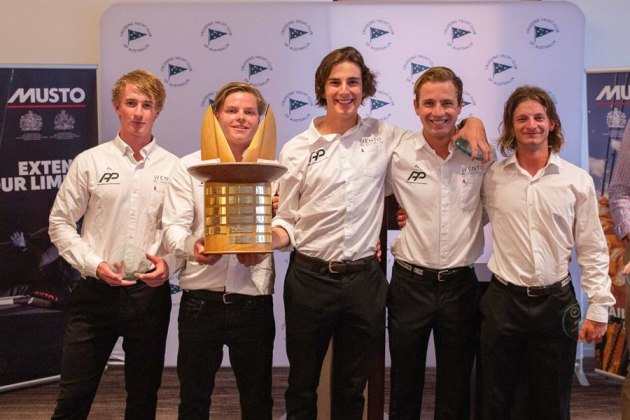 Jordan-Stevenson-with-trophy-and-team-at-the-presentation - Hamish Hardy pic