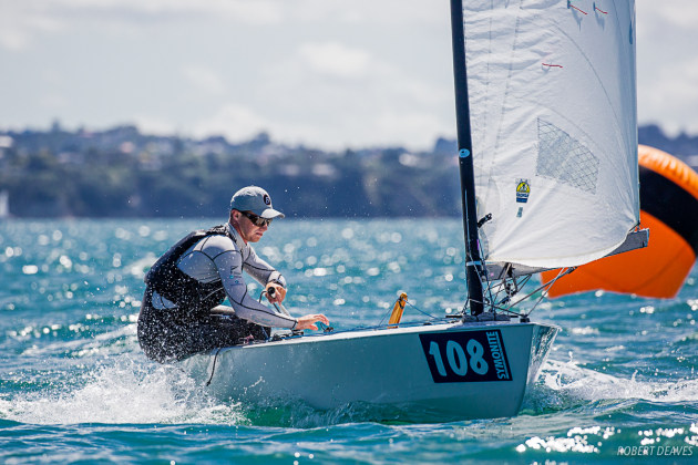 Josh Amit sailed a 35-year-old-Icebreaker-into-third-place - Robert-Deaves-pic