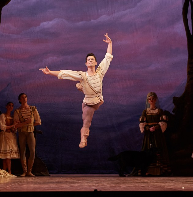 Julio Blanes in the Peasant Pas de Deux. Photo: Sergey Pevnev.