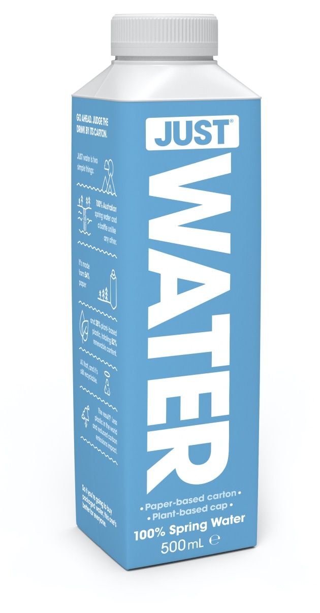 PIDA 2020 Beverage Category Finalist: Tetra Pak for JUST Water plant-based reusable water bottle.