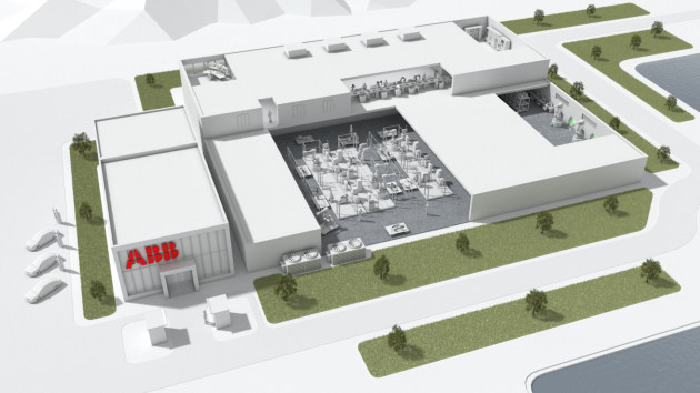 An artist's impression of ABB's new Shanghai factory.