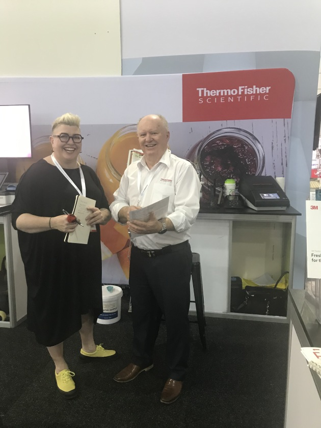 L-R: Food & Drink Business editor Kim Berry and Thermo Fisher Scientific account manager David McKinnie