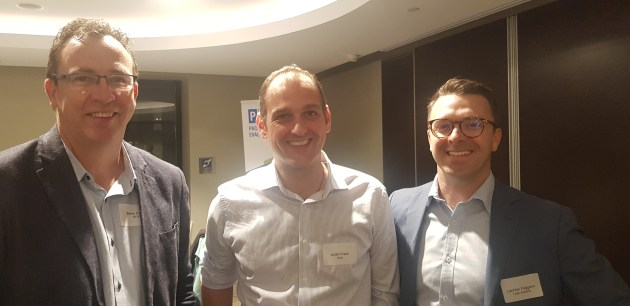 l-r Barry Cosier, AFGC; Justin Frank, Sues; and Lachlan Feggans, Chep Australia