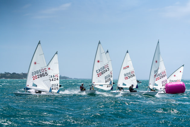 The Laser Radial fleet on Port Phillip