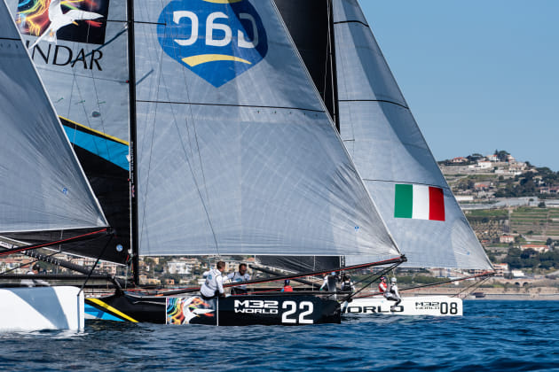 Light-wind opened the M32-Europeans-Warm-Up - Drew Malcolm pic