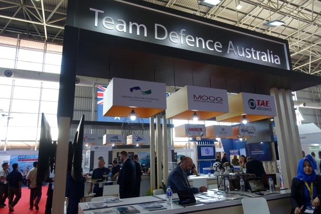 The Team Defence Australia stand at LIMA 19. 