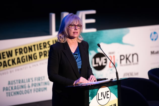 Print21 and PKN Packaging News publisher Lindy Hughson opens the event.