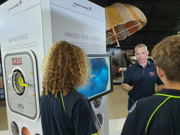 School students at the Lockheed Martin STEM Experience. 