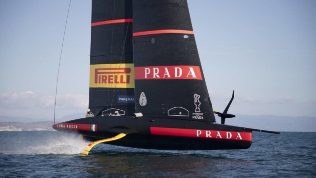 Luna Rossa looking slick during testing in Sardinia - Luna Rossa pic