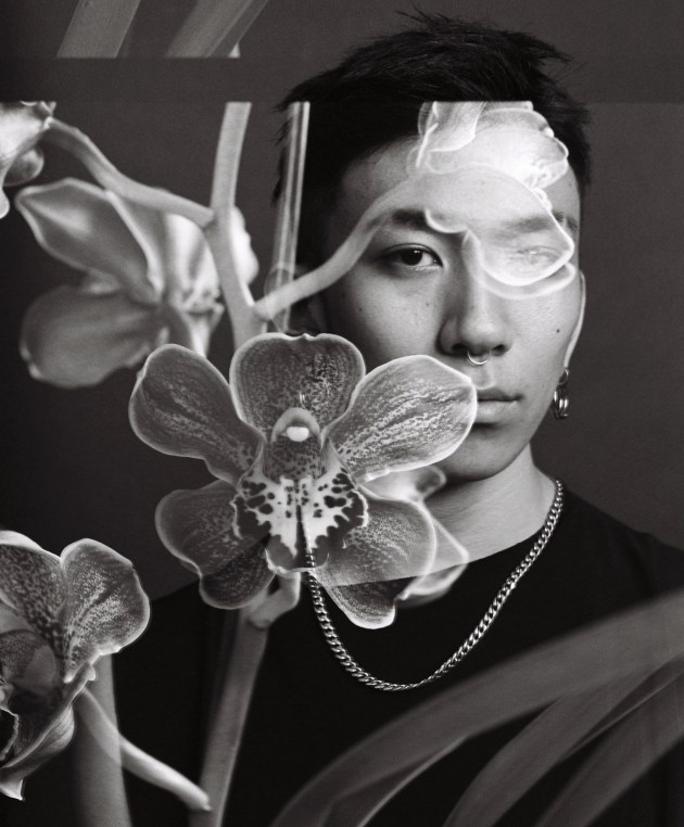 Lyu with orchid, David Rosetzky
