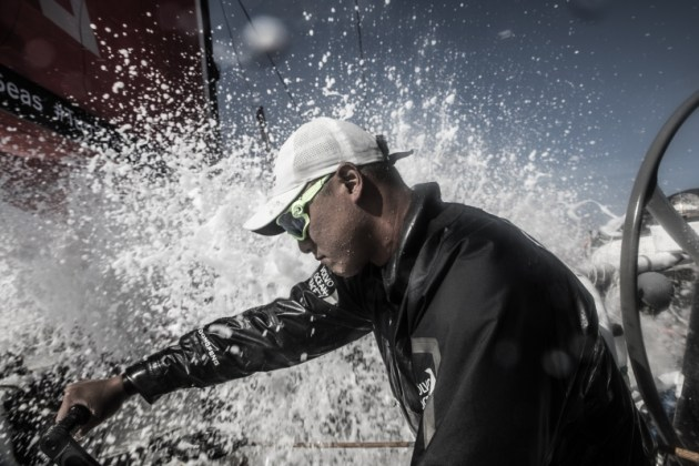 Leg 4, Melbourne to Hong Kong, day 02 on board Dongfeng. Horace before the impact. 03 January, 2018. Martin Keruzore/Volvo Ocean Race.