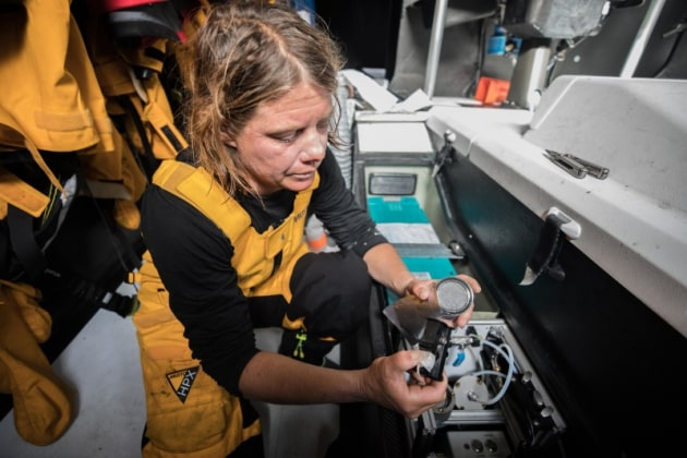 Leg 3, Cape Town to Melbourne, day 10, on board Turn the Tide on Plastic. Photo by Jeremie Lecaudey/Volvo Ocean Race. 19 December