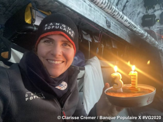 Clarisse Cremer the young skipper of Banque Populaire X.