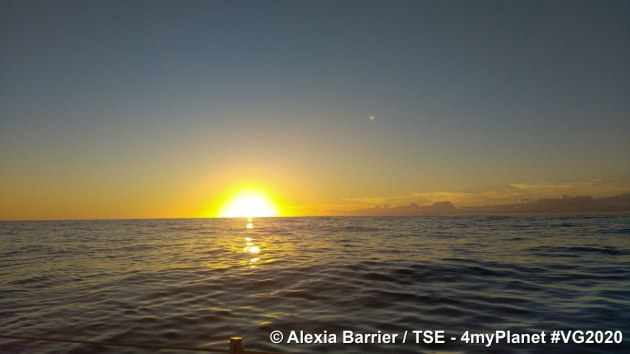 Image from Alexia Barrier, just 1,000 nautical miles from the finish.