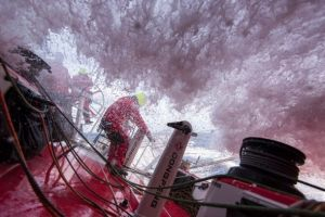 Big seas on Dongfeng. Photo Sam Greenfield / Dongfeng Race Team / Volvo Ocean Race.