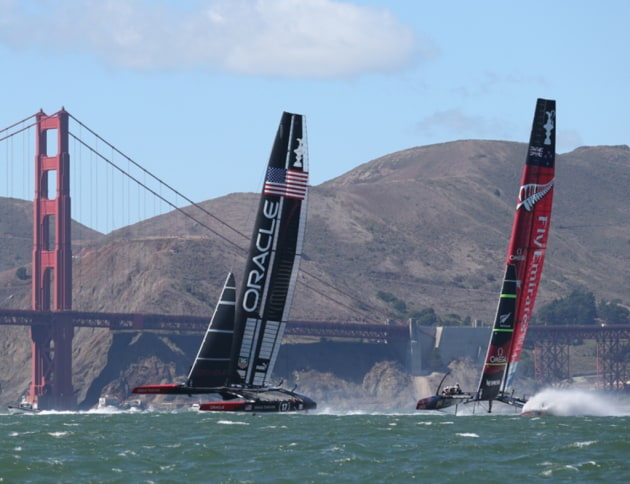 The 34th America's Cup in San Francisco.