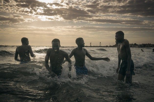 © Matthew Abbott. Wrestlers Cooling Off. Moran Contemporary Photographic Prize. as Highly Commended.