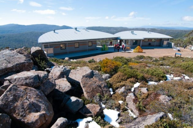 The new Mt Mawson Public Shelter. Pic: Parks Tas