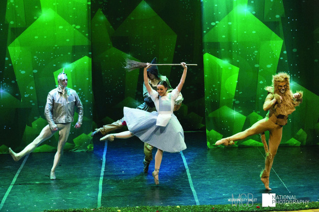 Performing in a recent production of 'The Wizard of Oz'.