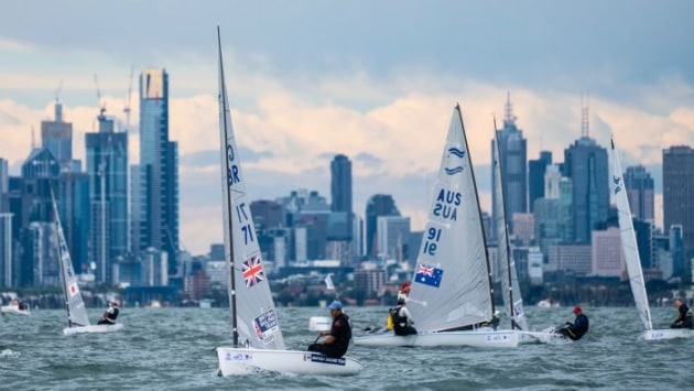 Finn at Sail Melbourne. Photo Beau Outteridge.