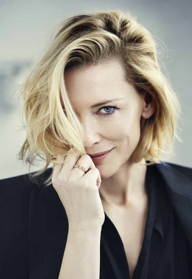 © Michele Aboud. Cate Blanchett for United Airlines. Makeup – Liz Welsh. Hair stylist –Kieren. Stylist – Alice Babidge.