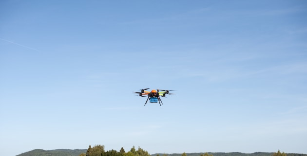 A test of UAV mounted hyperspectral cameras in Norway. 