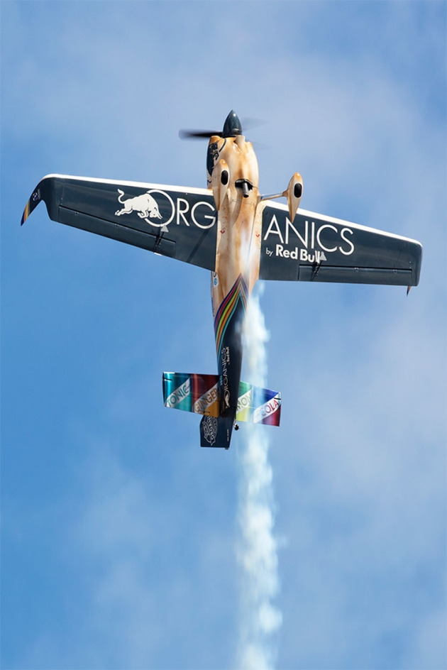 2019 Red Bull Air Race World Champion Matt Hall goes vertical over Edinburgh. (Phil Hosking)