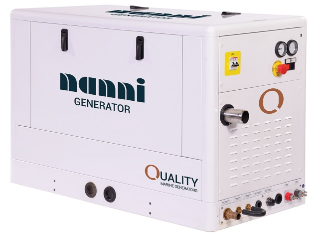Nanni Marine diesel generators range from 5kw to 35kw.