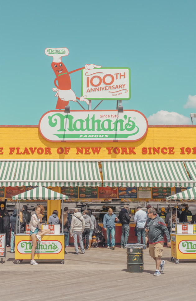 © Ben Thomas. Nathan's, Coney Island, 2016, from the series, Chroma II.