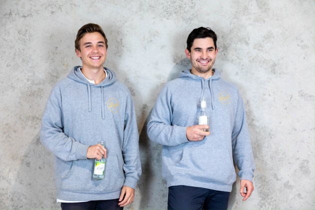 (L-R): Lust Liquor founders Marc Lindberg and Nick Rowell started the craft brewery in 2018. Image: Charlie Baker – Baker Media.