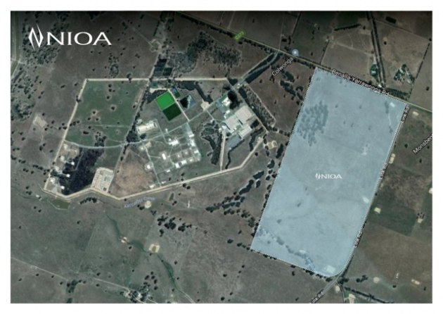 NIOA's land purchase next to the Benalla plant. NIOA