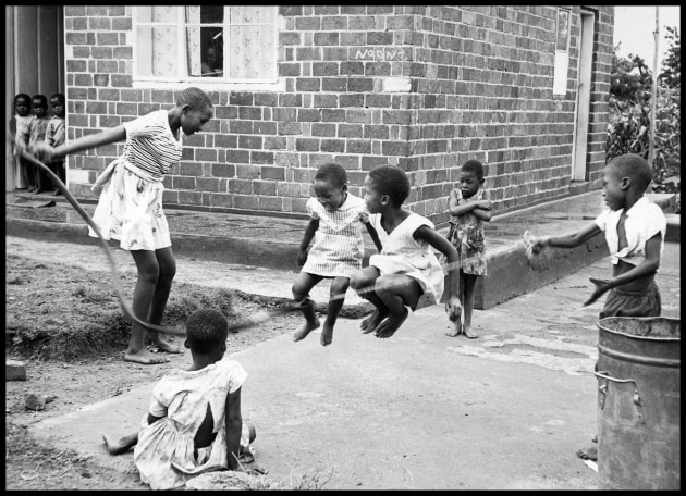 "© Ernest Cole/Magnum Photos.  South Africa. c.1965. ""In such an atmosphere [as apartheid] it is difficult to develop or hold onto a feeling of your own worth. Not only is your very being under relentless attack, but all your fellows are likewise under siege. You look vainly for heroes to emulate. The company of the besieged has a high casualty rate. Many already half-believe the white man's estimate of their worthlessness."" – Ernest Cole, from the book House Of Bondage, 1967."
