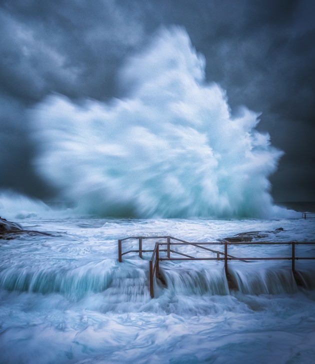 People's Choice: 'Ocean Explosion – Stormy Seas at North Curl Curl' by Colin Dunleavey.