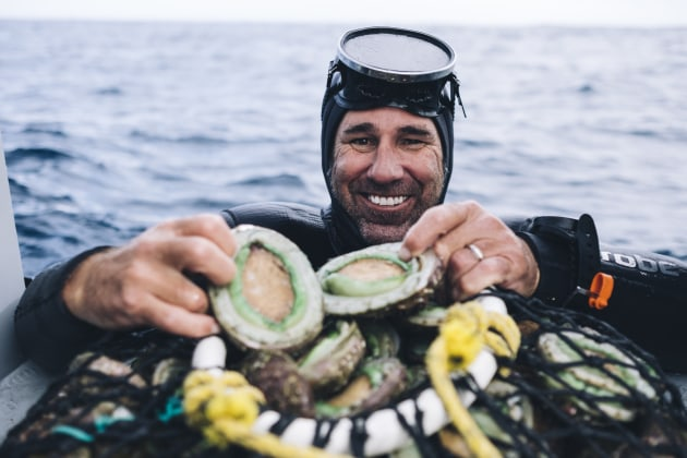 Brad Adams from Ocean Grown Abalone. Image: Russell Ord