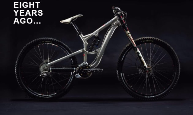 Trek first played with the idea of a DH 29er back in 2009 but canned the idea due to the lack of suitable wheels, tyres and forks.