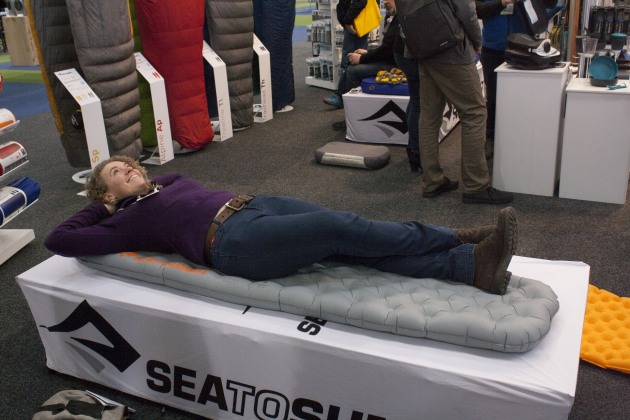 Getting too comfortable on one of Sea To Summitt's sleeping mats.