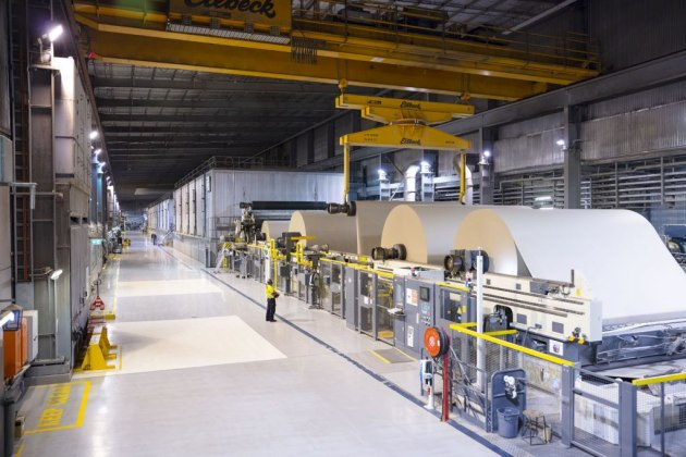 Orora's massive B9 paper recycling line at Botany NSW.