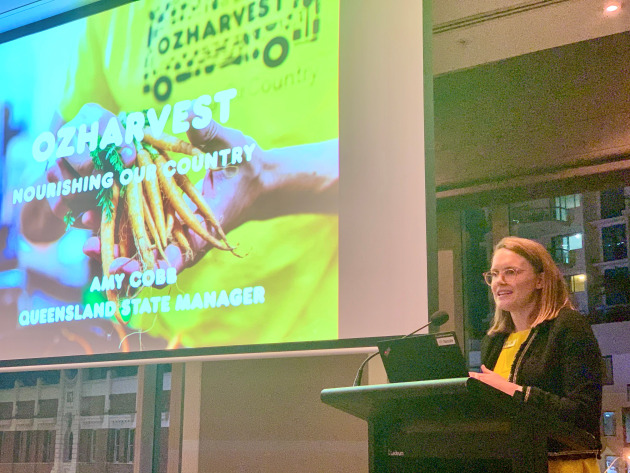 Amy Cobb of OzHarvest Queensland shared some eye-opening stats on food insecurity in Australia.