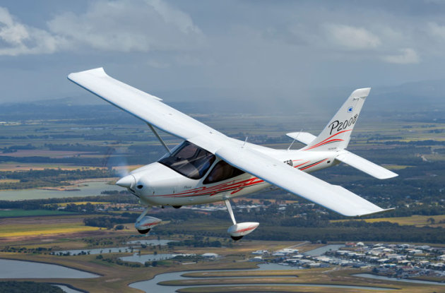 Tecnam's latest P2008 in flight. (John Absolon)