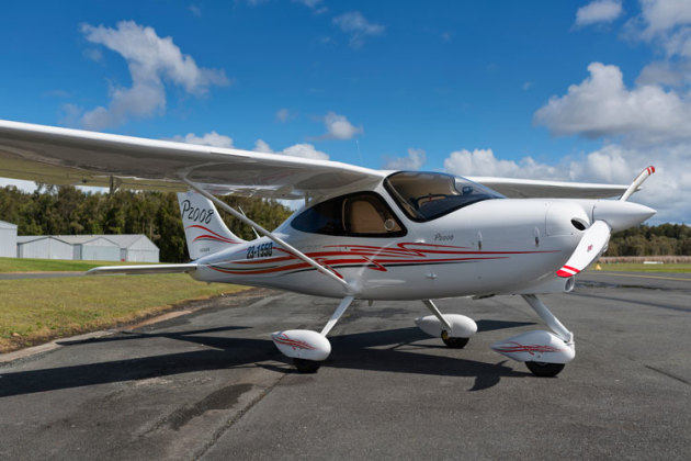 Tecnam P2008 on the ground. (John Absolon)