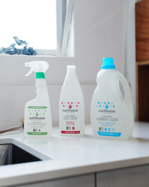 PIDA 2020 Domestic & Household Category Finalist: Pact Group for New Zealand's Earthwise brand's PCR 75% rHDPE household cleaning range.