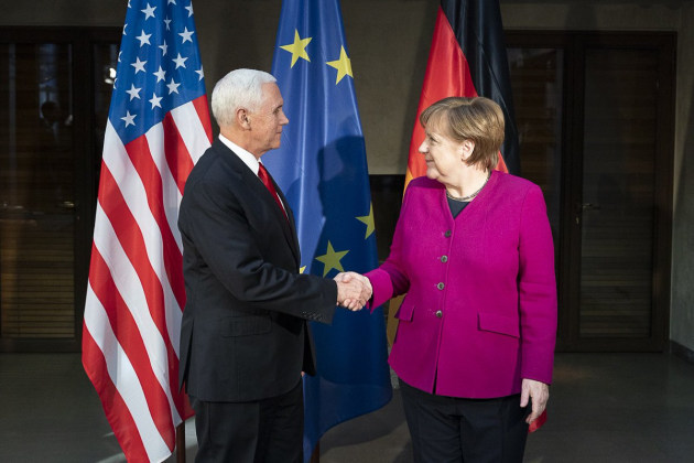 US VP Mike Pence and German Chancellor Angela Merkel put forth differing visions in Munich.