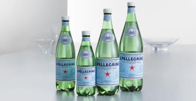 Featuring a unique look-and-feel, the PET version of the Sanpellegrino bottle was conceived and designed to be enjoyed at home and on the go. It is created in the same Vichy shape to ensure that the effervescence and bubbles of the mineral water's unique style would be immediately recognisable.
