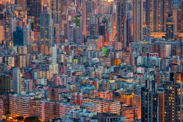 Kowloon, Hong Kong. The hiking trails in Hong Kong provide fantastic opportunities for sweeping views. I chose here to focus on the extreme density of one of Kowloon's most compacted neighbourhoods, with nowhere in the frame for the eye to escape. When conditions are right, the city turns a magic shade of pastel blues and orange during blue hour. Nikon D810, 70-200mm f/4 lens. 6s @ f8, ISO 64.